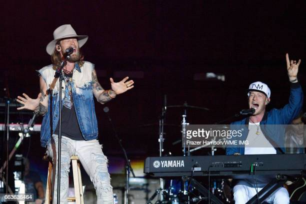 Musicians Brian Kelley and Tyler Hubbard of Florida Georgia Line perform onstage at the Bash at the Beach presented by WME at the Mandalay Bay Beach...