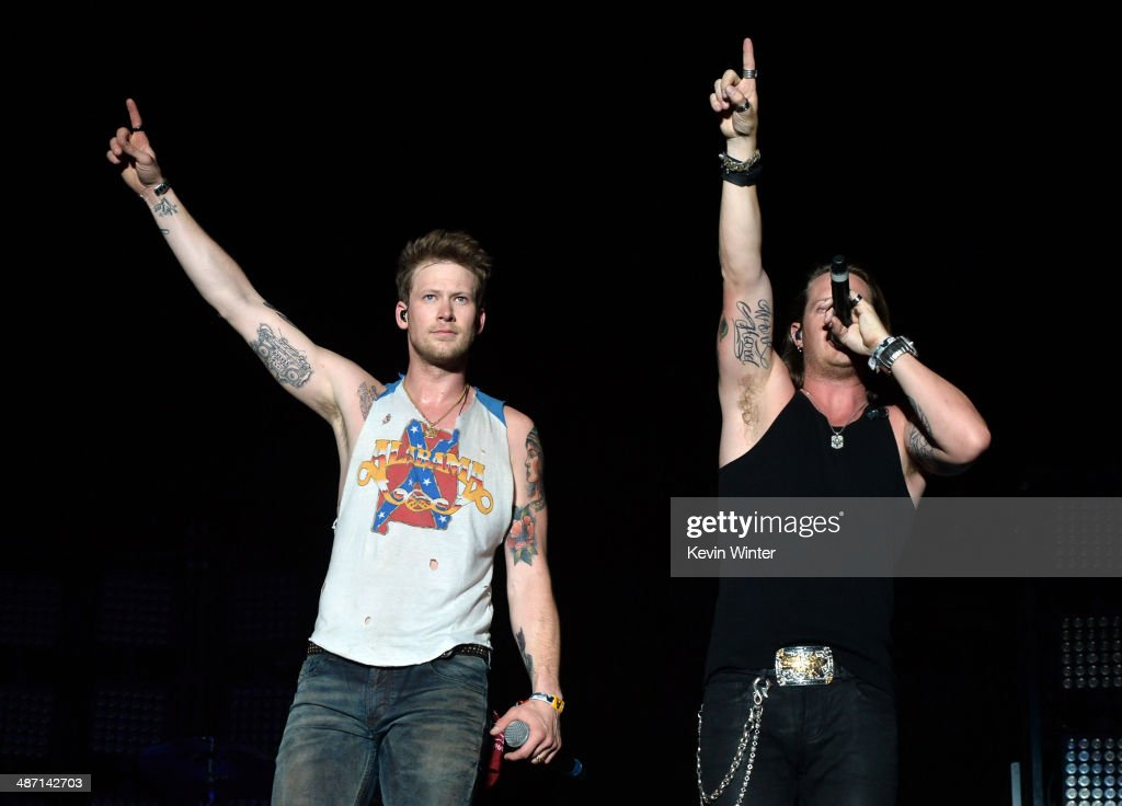 Musicians Brian Kelley and Tyler Hubbard of Florida Georgia Line perform onstage during day 3 of 2014 Stagecoach: California's Country Music Festival at the Empire Polo Club on April 27, 2014 in Indio, California.