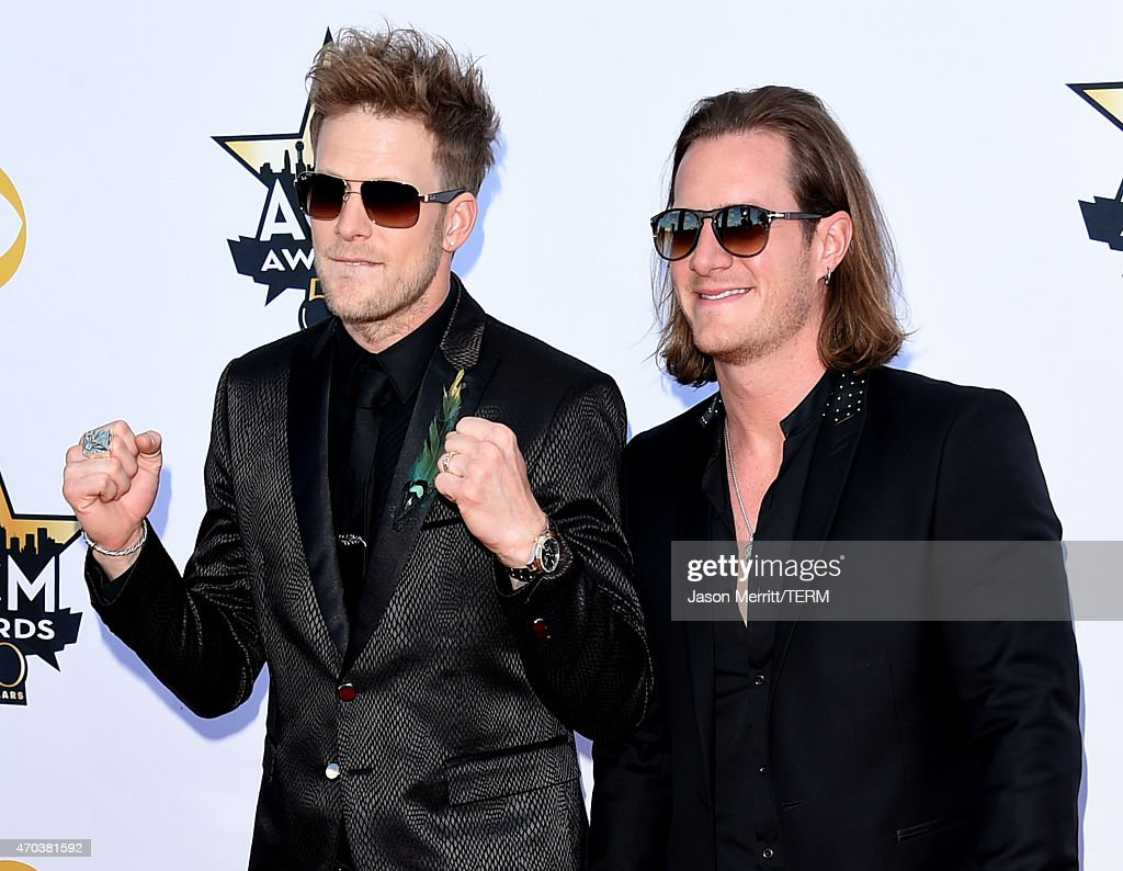 Musicians Brian Kelley and Tyler Hubbard of Florida Georgia Line attend the 50th Academy of Country Music Awards at ATT Stadium on April 19 2015 in...