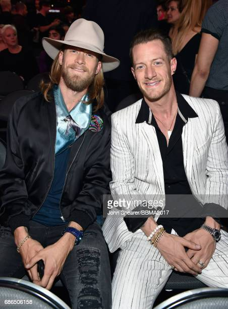 Musicians Brian Kelley and Tyler Hubbard of Florida Georgia Line attend the 2017 Billboard Music Awards at TMobile Arena on May 21 2017 in Las Vegas...