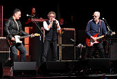Musicians Bruce Springsteen Roger Daltrey and Pete Townshend perform at the 11th Annual Musicares Map Fund Benefit concert at Best Buy Theater on May...