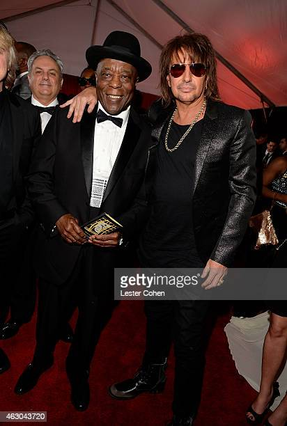 Musicians Buddy Guy and Richie Sambora attend The 57th Annual GRAMMY Awards at the STAPLES Center on February 8 2015 in Los Angeles California
