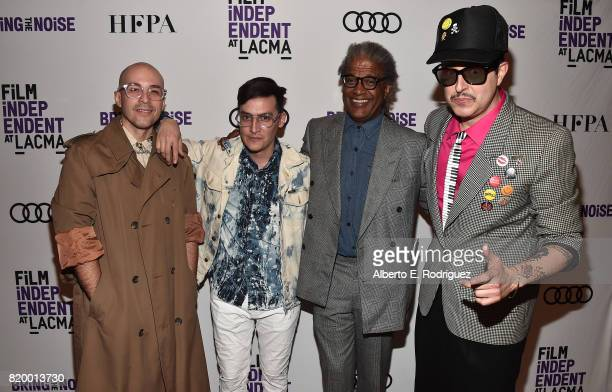 Musicians Carlos Chairez Gilberto Cerezo Film Historian Elvis Mitchell and Musician Ulises Lozano attend Film Independent at LACMA's Bring The Noise...