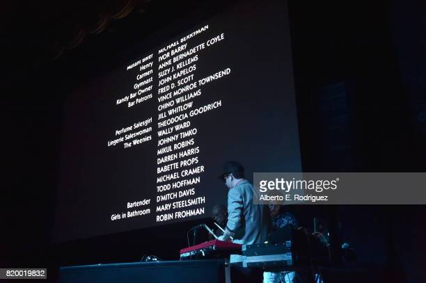 Musicians Carlos Chairez Ulises Lozano and Gilberto Cerezo of the band 'Kinky' attend Film Independent at LACMA's Bring The Noise Wierd Science at...