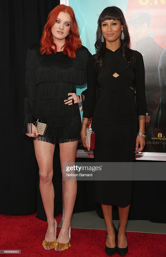 Musicians Caroline Hjelt and Aino Jawo of Icona Pop attend the New York premiere of 'The Man From UNCLE' at Ziegfeld Theater on August 10 2015 in New...