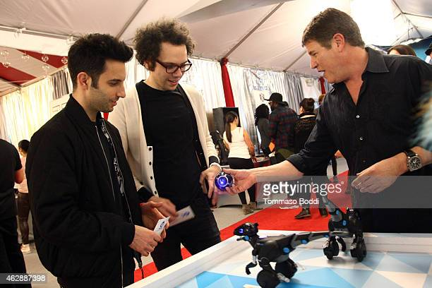 Musicians Chad Vaccarino and Ian Axel of A Great Big World attend the GRAMMY gift lounge during The 57th Annual GRAMMY Awards at the Staples Center...