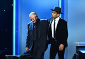 Musicians Charlie Musselwhite and Ben Harper accept the Best Blues Album award for 'Get Up' onstage onstage during the 56th GRAMMY Awards PreTelecast...