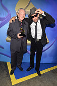 Musicians Charlie Musselwhite and Ben Harper onstage during the 56th GRAMMY Awards PreTelecast at Nokia Theatre LA Live on January 26 2014 in Los...