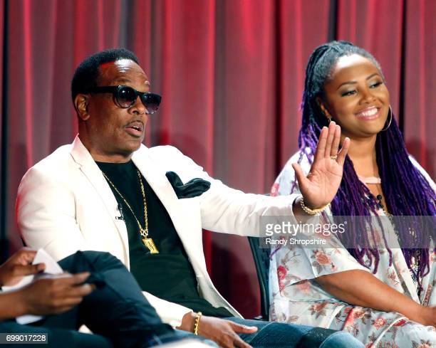 Musicians Charlie Wilson and Lalah Hathaway attend the Health in Hip Hop panel at the GRAMMY Museum on June 20 2017 in Los Angeles California