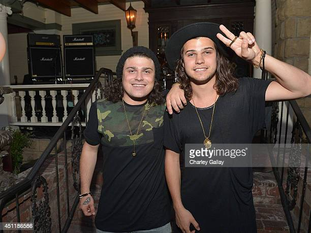 Musicians Chris Andre and Alex Andre of DVBBS attend Marshall Headphones Presents Jason Lee Parry's EXILE Gallery With Performances By J Mascis And...