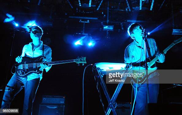 Musicians Chris Taylor and Ed Droste of Grizzly Bear perform during day 1 of the Coachella Valley Music Arts Festival 2010 held at The Empire Polo...