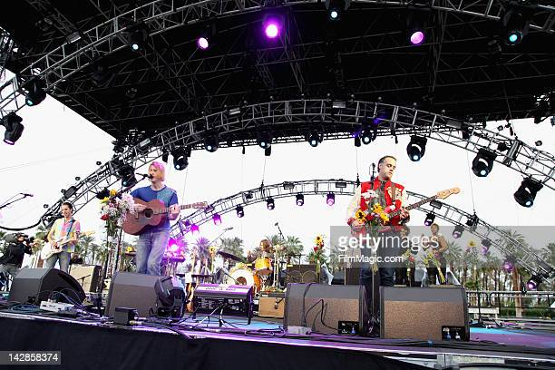Musicians Christopher Owens and Chet 'JR' White of the band Girls perform during Day 1 of the 2012 Coachella Valley Music Arts Festival held at the...