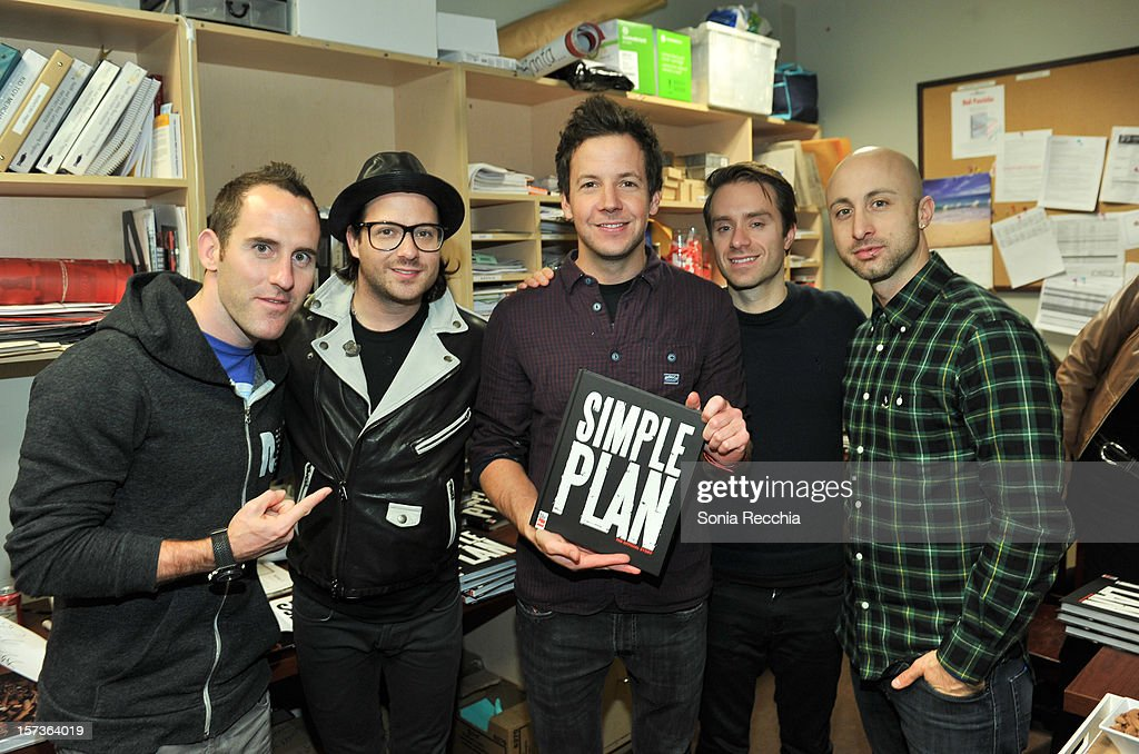 """Simple Plan Signs Their New Book """"Simple Plan: The Official Story"""""""