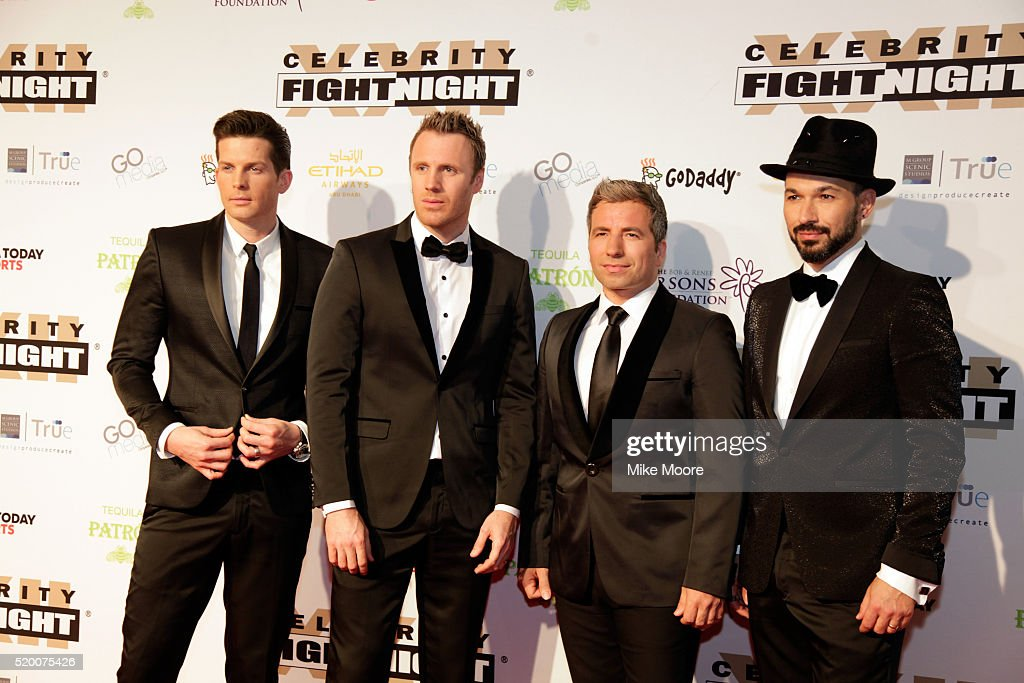 Musicians Clifton Murray Fraser Walters Remigio Pereira and Victor Micallef of The Tenors attend Muhammad Ali's Celebrity Fight Night XXII at the JW...