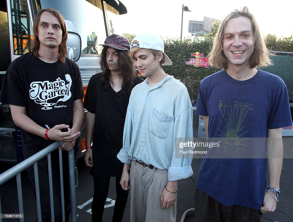 Musicians Colby Hewitt , Devin Ruben Perez, Zachary Cole Smith and Andrew Bailey of the band DIIV at the 3rd Annual Filter Magazine Culture Collide 2012 Festival - Day 4 on October 7, 2012 in Los Angeles, California.