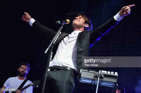 Musicians Cubbie Fink and Mark Foster of Foster the People perform onstage during day 3 of the Firefly Music Festival on June 20 2015 in Dover...