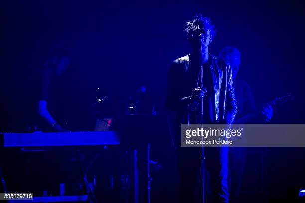 Musicians Daddy G and Robert Del Naja founders of the Massive Attack on the stage of Fabrique in Milan Milan Italy 12th February 2016