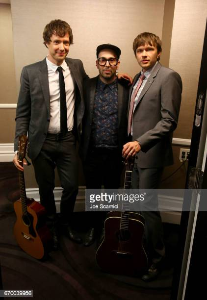 Musicians Damian Kulash Tim Nordwind and Andy Ross of OK Go attend the Thirst Project's 8th Annual thirst Gala at Beverly Hills Hotel on April 18...