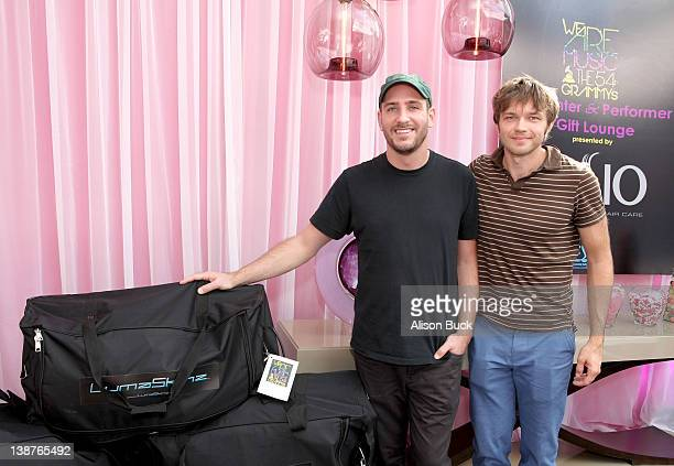 Musicians Dan Konopka and Andy Ross of OK Go attend GRAMMY Gift Lounge during The 54th Annual GRAMMY Awards at Staples Center on February 11 2012 in...