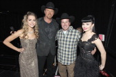 Musicians Danelle Leverett and Susie Brown of the Jane Dear Girls Musician Rodney Carrington and Cohost Trace Atkins attends the American Country...
