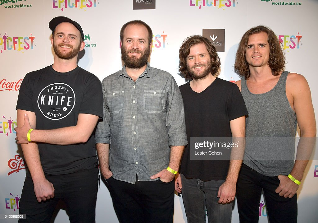 Musicians Daniel Kongos, Johnny Kongos, Jesse Kongos and Dylan Kongos of the musical group KONGOS attend EpicFest 2016 hosted by L.A. Reid and Epic Records at Sony Studios on June 25, 2016 in Los Angeles, California.