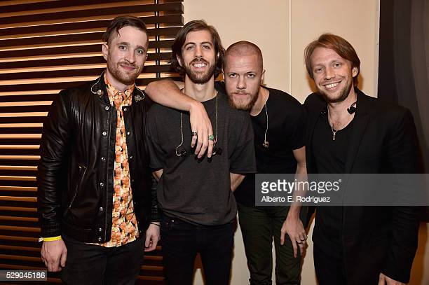 Musicians Daniel Platzman Daniel Wayne Sermon Dan Reynolds and Ben McKee of Imagine Dragons attend City Year Los Angeles Spring Break Event at Sony...