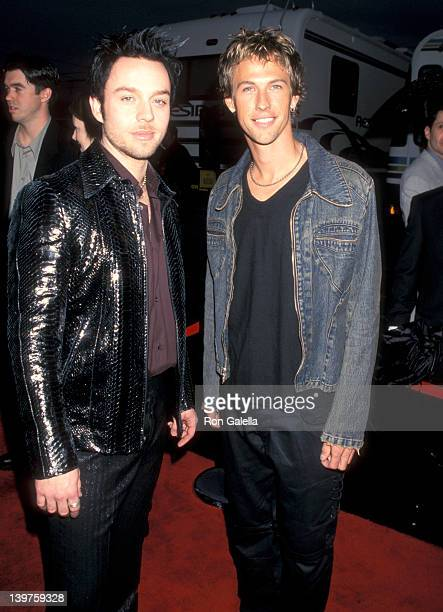 Musicians Darren Hayes and Daniel Jones of Savage Garden attend 27th Annual American Music Awards on January 17 2000 at the Shrine Auditorium in Los...