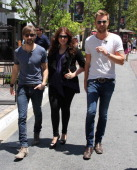 Musicians Dave Haywood Hillary Scott and Charles Kelley of Lady Antebellum as seen on May 13 2013 in Los Angeles California