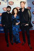 Musicians Dave Haywood Hillary Scott and Charles Kelley of Lady Antebellum arrive at the American Country Awards 2013 at the Mandalay Bay Events...