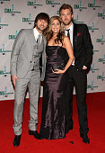 Musicians Dave Haywood Hillary Scott and Charles Kelley of Lady Antebellum attend the 42nd Annual CMA Awards at the Sommet Center on November 12 2008...