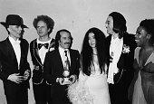Musicians David Bowie Art Garfunkel Paul Simon Yoko Ono John Lennon and Roberta Flack attending the Grammy Awards at the Uris Theater New York March...