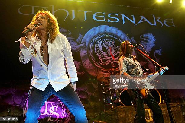 Musicians David Coverdale and Uriah Duffy of Whitesnake perform in concert at the ATT Center July 25 2009 in San Antonio Texas