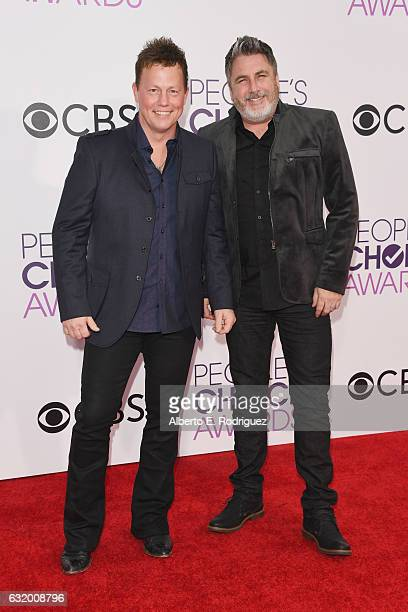 Musicians Dean Sams and Michael Britt of Lonestar attend the People's Choice Awards 2017 at Microsoft Theater on January 18 2017 in Los Angeles...