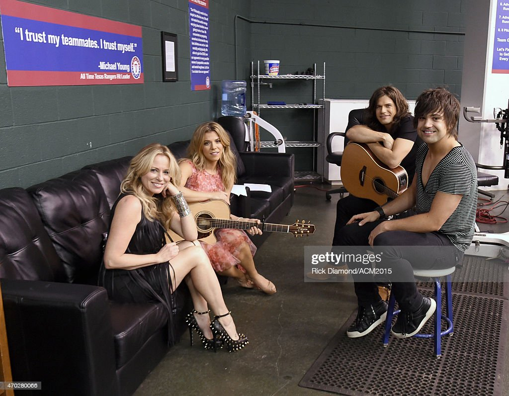 Musicians Deana Carter, Kimberly Perry, Reid Perry and Neil Perry attend the rehearsals for ACM Presents: Superstar Duets at Globe Life Park in Arlington on April 18, 2015 in Arlington, Texas.