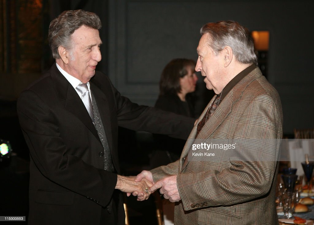 Musicians D.J. Fontana and Scotty Moore (drummer and guitarist from Elvis Presley's first band) attend the 24th Annual Rock and Roll Hall of Fame Induction Ceremony at Public Hall on April 4, 2009 in Cleveland, Ohio.