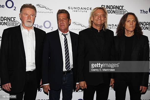 Musicians Don Henley Glenn Frey Joe Walsh and Timothy B Schmit of The Eagles attend 'History Of The Eagles Part One' screening during Sundance London...