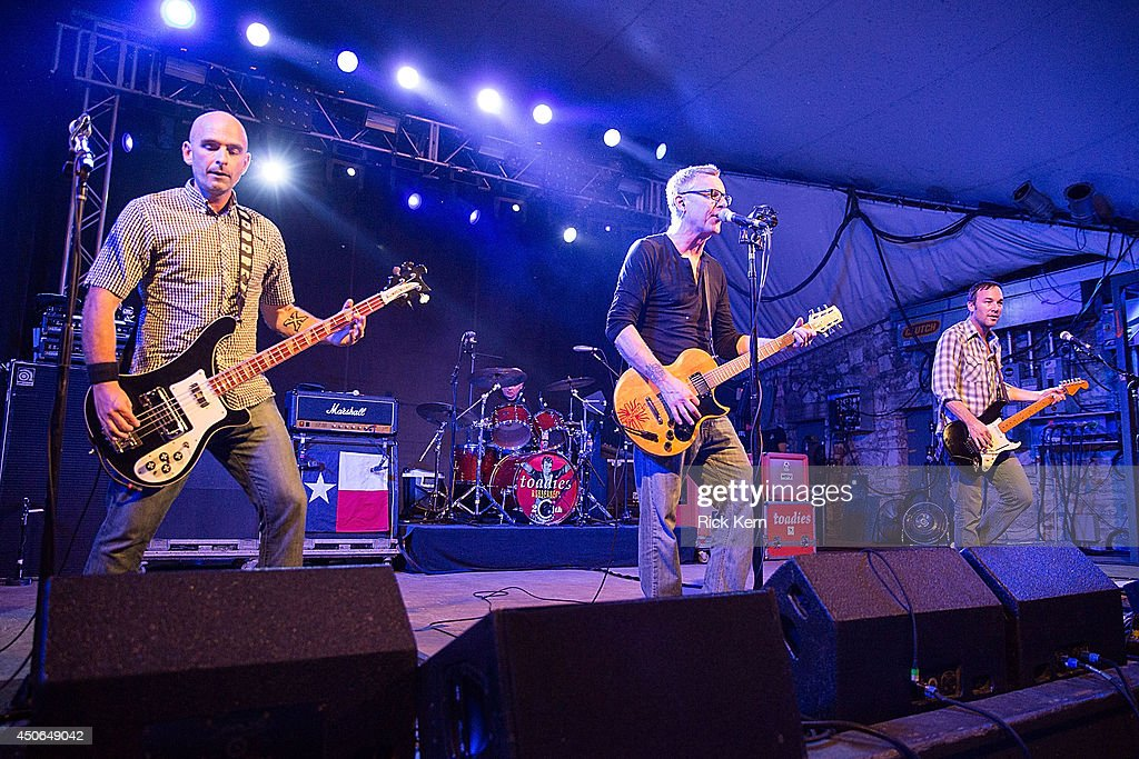 Musicians Doni Blair, Mark Reznicek, Vaden Todd Lewis, and Clark Vogeler of the Toadies perform in concert during the Rubberneck 20th Anniversary Tour at Stubb's Bar-B-Q on June 14, 2014 in Austin, Texas.