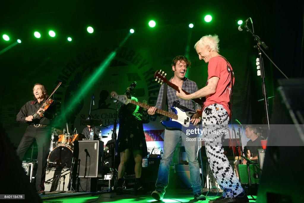 Musicians Doug Kershaw And Robby Krieger Of The Doors Perform Onstage During The 10th Annual Medlock & Kershaw Doors \u0026 Huntingdon 10 Light Oak Glazed Internal Door\