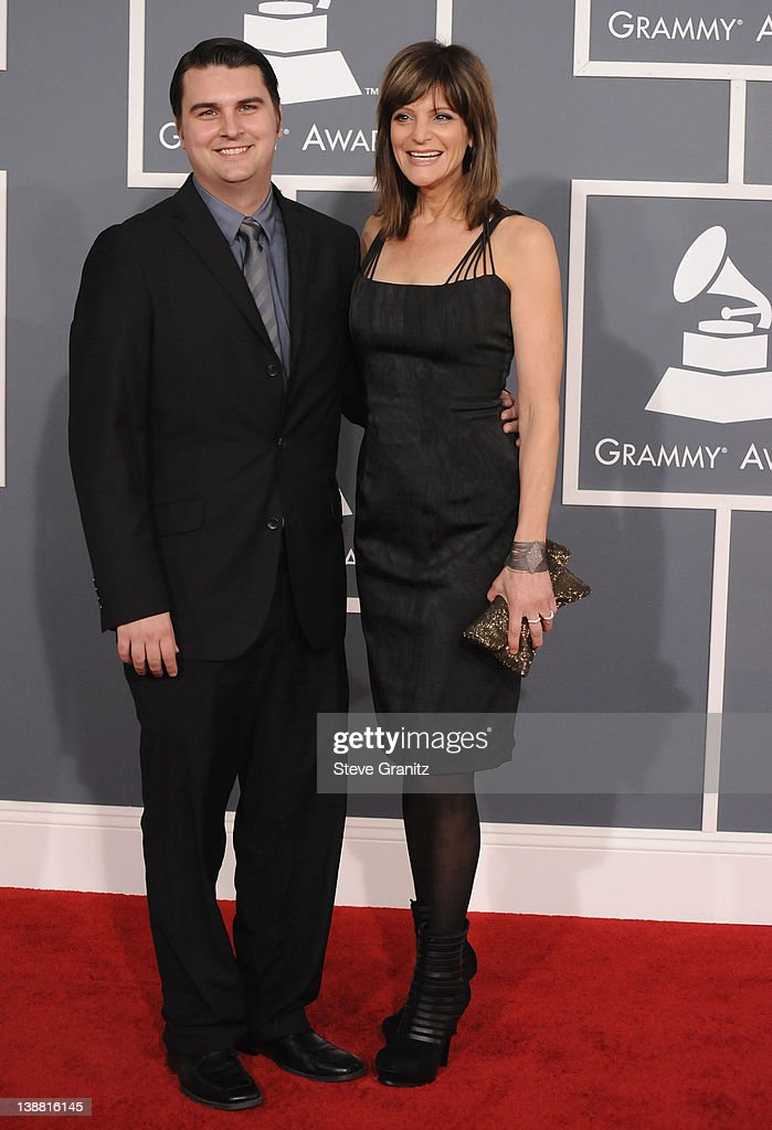 Musicians <a gi-track='captionPersonalityLinkClicked' href=/galleries/search?phrase=Drew+Pearson&family=editorial&specificpeople=226652 ng-click='$event.stopPropagation()'>Drew Pearson</a> and Anne Preven arrive at The 54th Annual GRAMMY Awards at Staples Center on February 12, 2012 in Los Angeles, California.