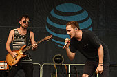 Musicians Dustin Belt and Kendall Schmidt of the band Heffron Drive perform onstage at the Team USA Road To Rio send off event on July 23 2016 in...