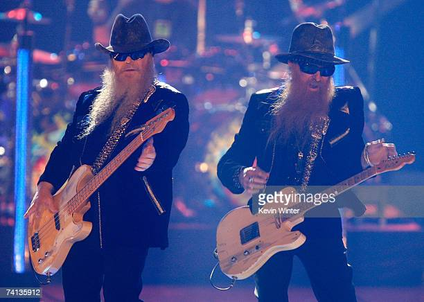 Musicians Dusty Hill and Billy Gibbons from the band ZZ Top perform onstage during the 2nd annual VH1 Rock Honors held at the Mandalay Bay Events...