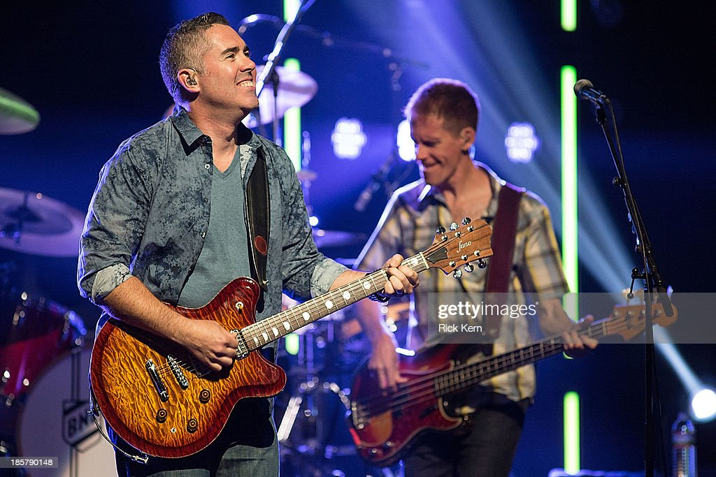 Musicians Ed Robertson and Jim Creeggan of Barenaked Ladies perform in concert at ACL Live on October 24 2013 in Austin Texas