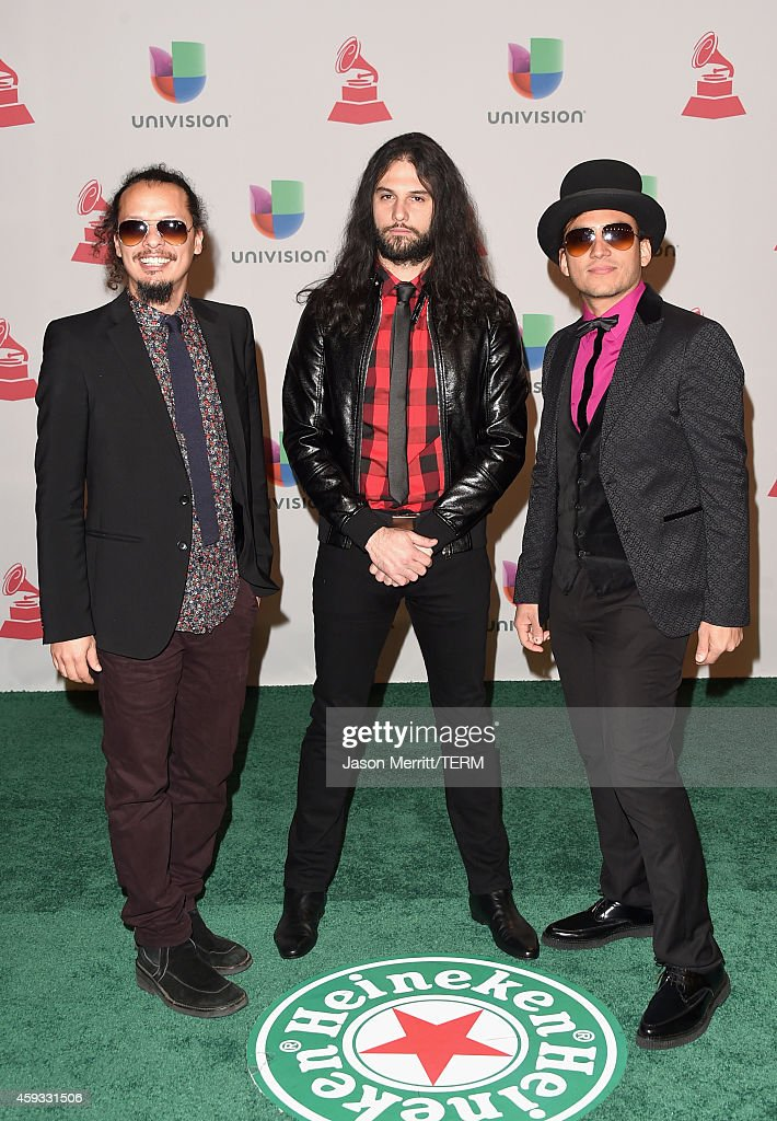 Musicians Eduardo Benatar, Willbert Alvarez and Carlos Mendoza of Luz Verde attend the 15th Annual Latin GRAMMY Awards at the MGM Grand Garden Arena on November 20, 2014 in Las Vegas, Nevada.