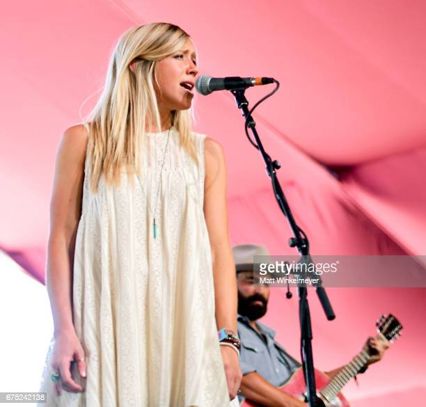 Musicians Ellie Holcomb and Drew Holcomb of Drew Holcomb and The Neighbors perform on the Mustang stage during day 3 of 2017 Stagecoach California's...