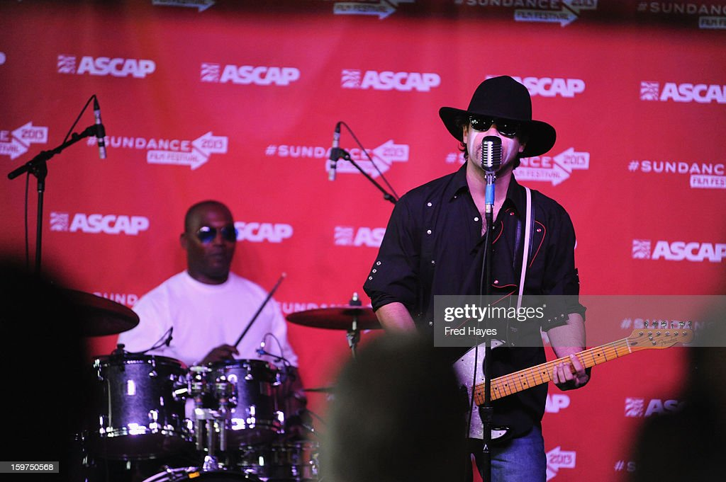 Musicians Elvis Murphy and Jack Dempsey perform onstage during Day 2 of ASCAP Music Cafe at Sundance ASCAP Music Cafe during the 2013 Sundance Film Festival on January 19, 2013 in Park City, Utah.
