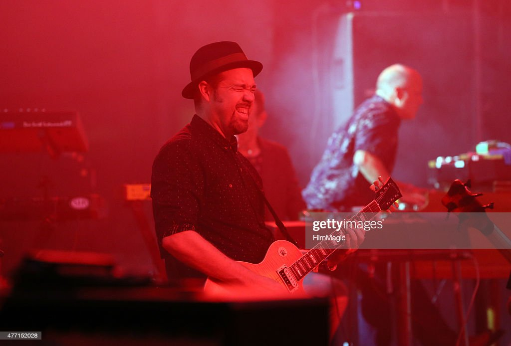 Musicians Eric Krasno and John Medeski perform onstage at The Other Tent as part of the SuperJam during Day 3 of the 2015 Bonnaroo Music And Arts...
