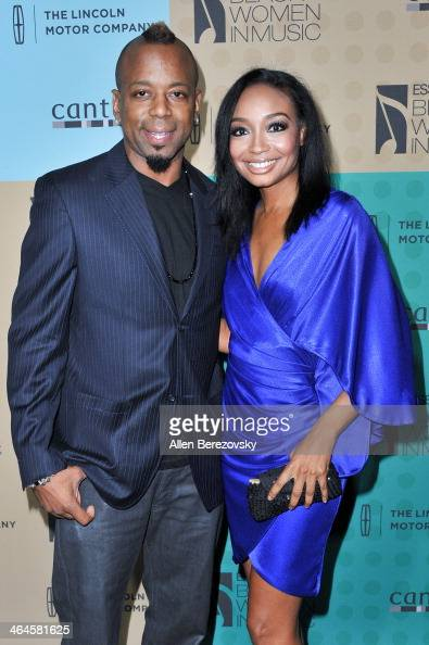 Musicians Ethan Farmer and Malina Moye attend Essence Magazine's 5th Annual Black Women In Music Event at 1 OAK on January 22 2014 in West Hollywood...