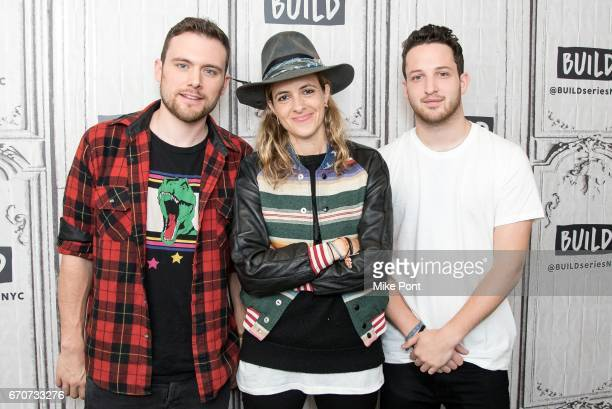 Musicians Ethan Thompson Samantha Ronson and Pete Nappi of Ocean Park Standoff attend Build Studio on April 20 2017 in New York City