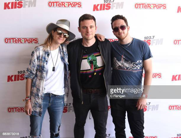 Musicians Ethan Thompson Samantha Ronson and Pete Nappi of Ocean Park Standoff attend KIIS FM's 2017 Wango Tango on May 13 2017 in Carson California