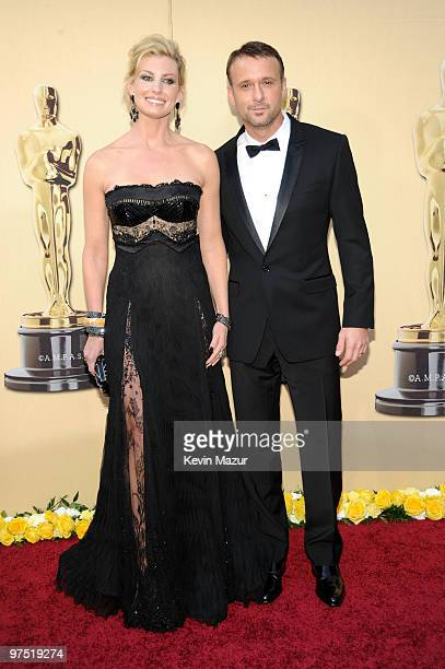 Musicians Faith Hill and Tim McGraw arrive at the 82nd Annual Academy Awards at the Kodak Theatre on March 7 2010 in Hollywood California